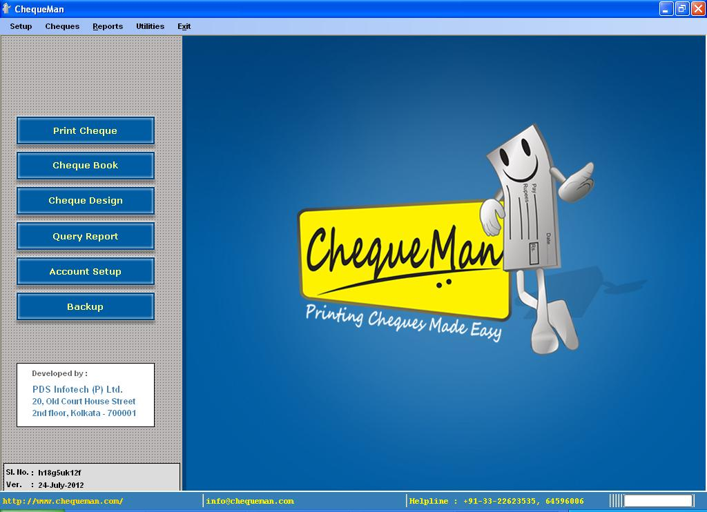 Click to view CHEQUEMAN screenshots